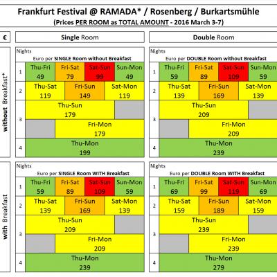 Frankfurt-Festival Hotel-Deal 2016